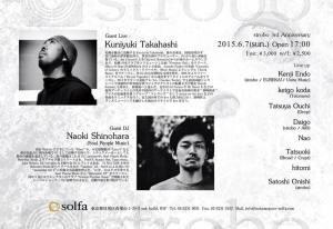 strobo 3rd Anniversary at solfa Tokyo : 30th May 2015
