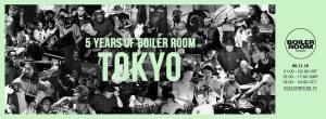 5 years Boiler room in Tokyo